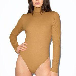 American Apparel Ribbed Long Sleeve Thong Bodysuit
